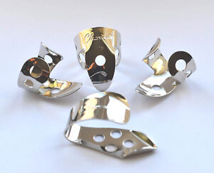 METAL-FINGER-PICKS-amp-REINFORCED-THUMB-PICK-SET-BY-CLEARWATER-GUITAR-BANJO-ETC