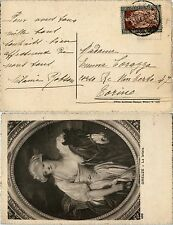 REGNO-Filiberto 30c(226)-Cartolina(GREUZE La lattaia) Massa Carrara 21.12.1928