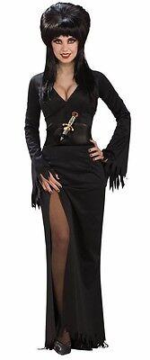 Womens Elvira Costume Mistress of the Dark Fancy Dress Halloween Black Suit NEW