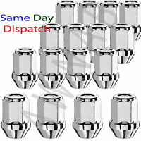 Set of 16 M12 x 1.5 19mm Hex Standard Spare Alloy Wheel Nuts Lugs Bolts for Cars