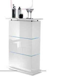 Mobile bar contenitore moderno primo bianco laccato lucido - Mobile bar soggiorno ...