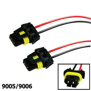 image is loading universal-9005-9006-adapter-wiring-harness-sockets-wire-