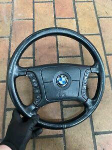 BMW-5er-E39-7er-E38-Volante-IN-Pelle-Multifunzione-Airbag-Volante-4-Speichen