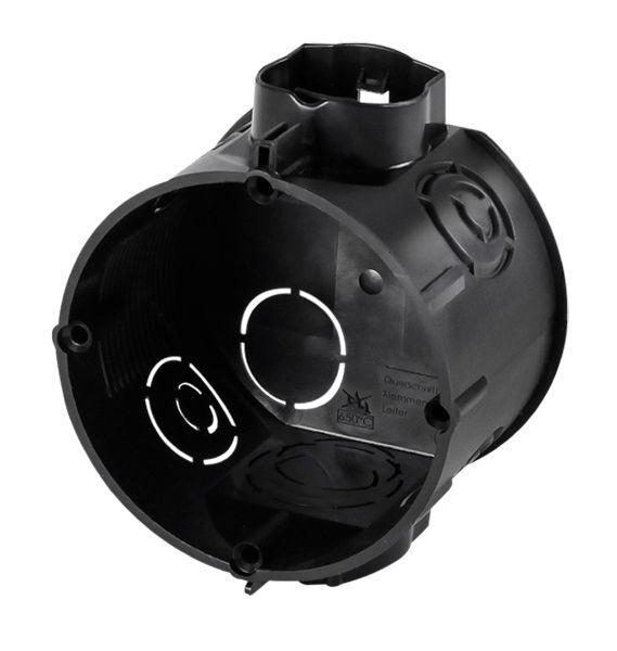 f-tronic Unterputz-Gerätedose, 45 mm tief Einbaudose schwarz, E106M25