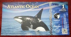 ATLANTIC OCEAN 1 OCEAN DOLLAR (FANTASY NOTE)