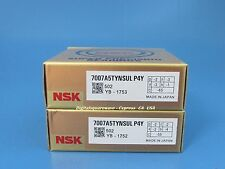 Nsk 7007a5tynsulp4y Abec 7 Super Precision Spindle Bearings Matched Set Of 2