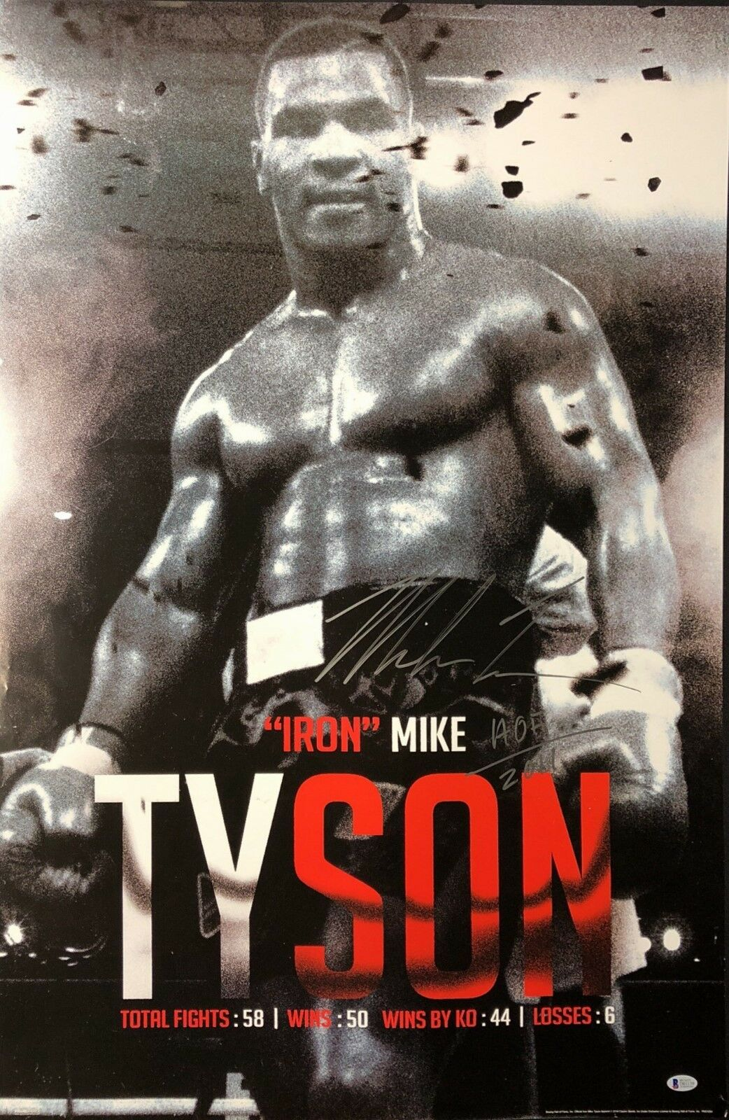 Mike Tyson Signed 24x36 'Iron Mike' Boxing Poster