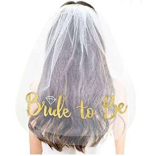 Veil Cake Topper Hair Band Bachelorette Party Hen/'s night Decoration AU-STOCK