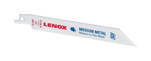 Bi-Metal  Reciprocating Saw Blade  18 TPI 1 pk Lenox  6 in
