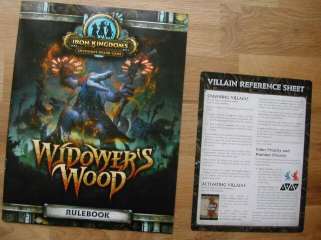 RULEBOOK +VILAIN REF SHEET    WIDOWER'S WOOD PRIVATEER/ WARMACHINE