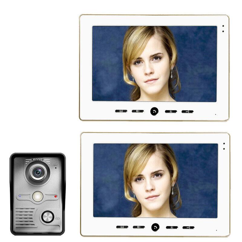 10  pulgadas Video Puerta Teléfono Timbre Intercomunicador Kit Cámara Monitor de 2 de 1 de visión nocturna