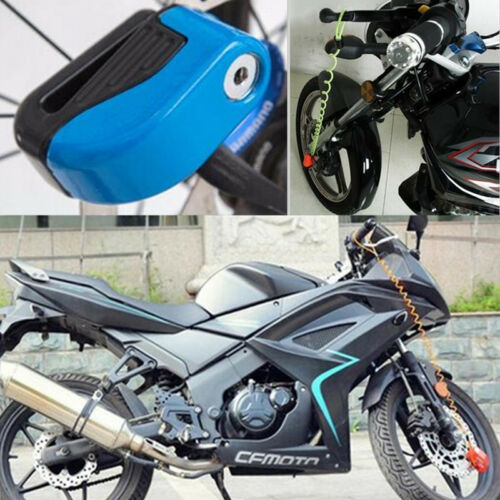 Motorbike Wheel Disc Brake Lock Practical Antitheft Warning Reminder Cable Tool