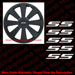 CHEVY Bowtie Die Cut Vinyl Decal Wheel Center 5pc x OUTLINE ONLY Chevrolet