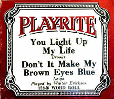 Play-Rite YOU LIGHT UP MY & DON'T IT MAKE MY BROWN EYES 123-B Player Piano Roll