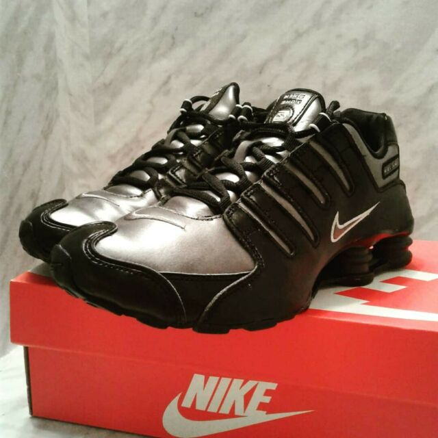 Nike Shox NZ SI PLUS GS 6Y Womens 7.5 Black silver shoes sneakers 317929 006