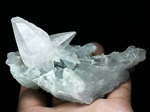 210g Rare Natural beautiful Green fluorite +calcite Mineral Specimen From China