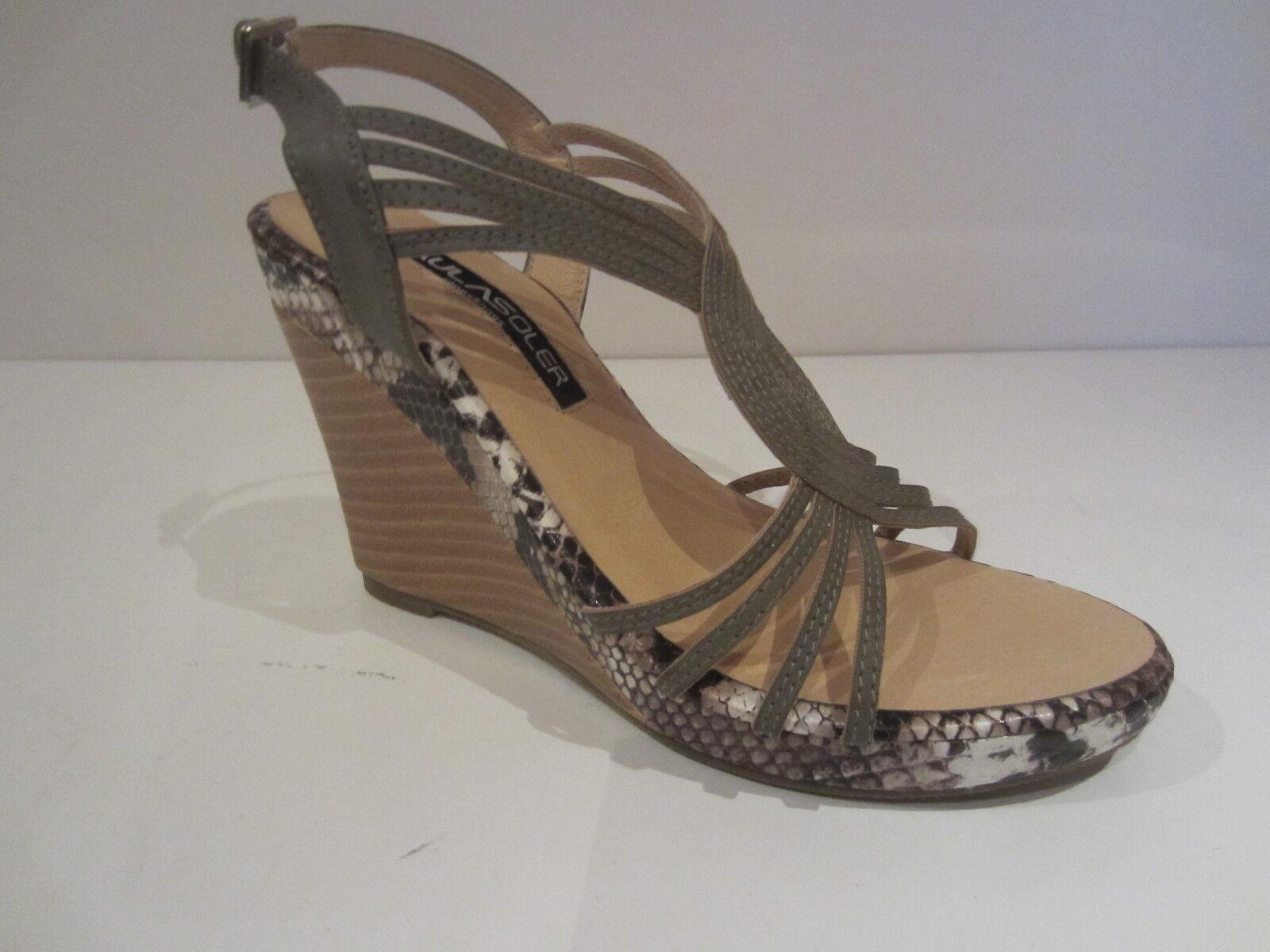 Paula Soler za113012 [Size 37] New Ladies Fashion Sandals Green New 37] & Original d265a9