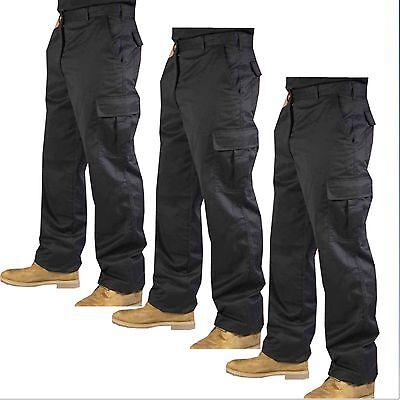 """Mens Cargo Combat Work Trousers Combats Black & Navy 28""""- 52"""" Waist"""