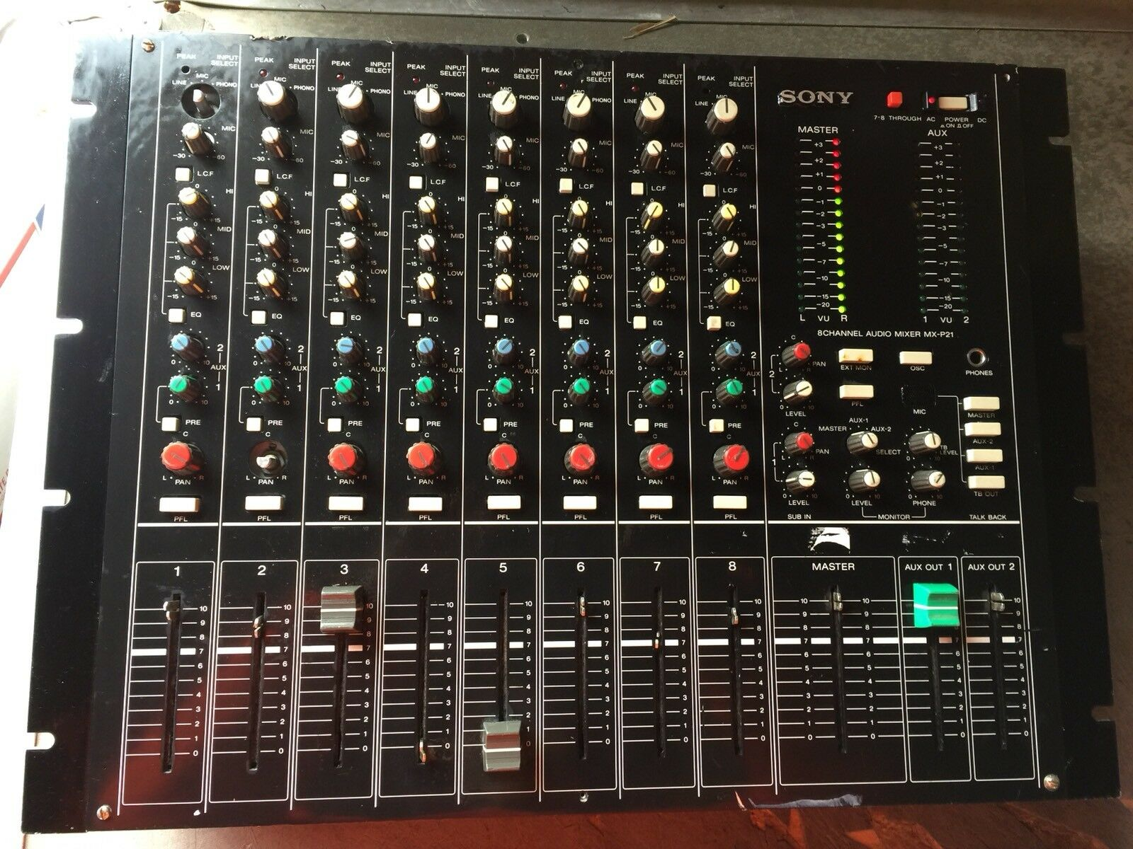 Sony MX-P21 8 Channel Audio Mixer