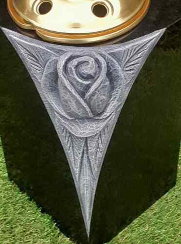 Personalised Granite Memorial Vase Grave Pot Flower Holder Cemetery Grave Vase