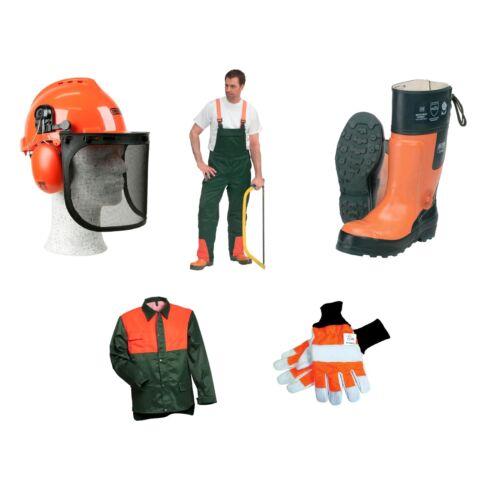 5er Schnittschutz Set Schnittschutzhose Jacke beste Qualität Oregon Forsthelm
