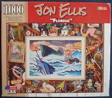 jigsaw puzzle 1000 pc Florida Jon Ellis fishing sharks boating flamingos