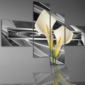 aufh ngfertig leinwand leinwandbilder bild bilder 6841m calla blume bl te ebay. Black Bedroom Furniture Sets. Home Design Ideas
