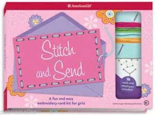 American Girl STITCH AND SEND BOOK retired embroidery cards stickers F2482 craft