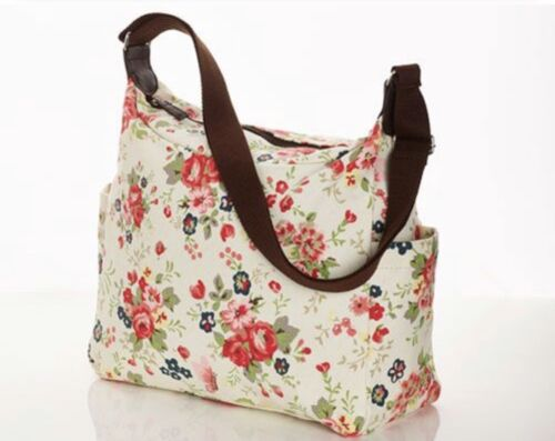 Floral Print Canvas Hand Bag Baby Changing Bag Gift