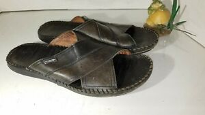 Pikolinos-Tarifa-Black-Leather-Sandals-Slide-Mens-EU-44-Size-10