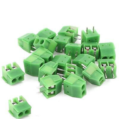 20pcs 3.5mm Pitch 2 pin 2 way Straight Pin PCB Screw Terminal Blocks Connector