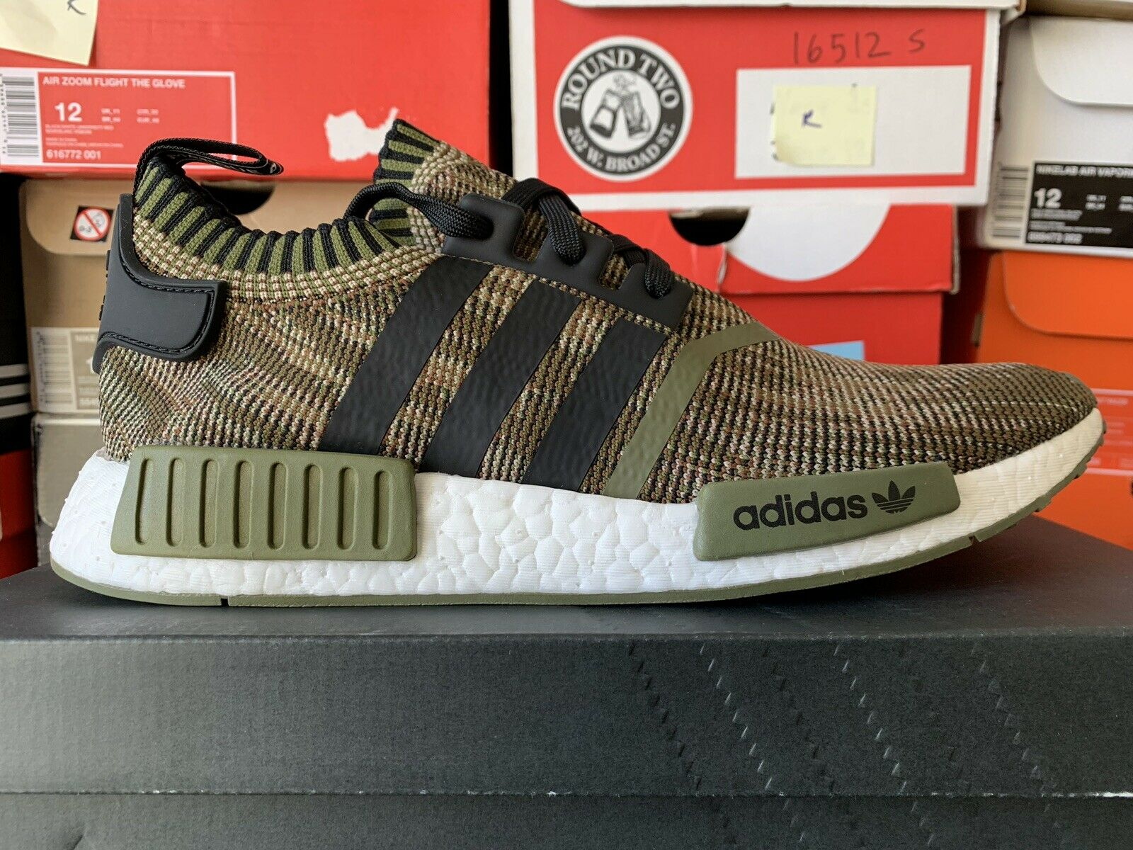 Adidas NMD R1 PK A.I. Camo Pack Olive Sneaker Unboxing