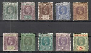 D3041-BRITISH-FIJI-1903-1927-MINT-MH-SEMI-MODERN-LOT-CV-110