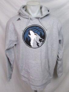 Minnesota-Timberwolves-NBA-Adidas-Men-039-s-Pullover-Hooded-Sweatshirt