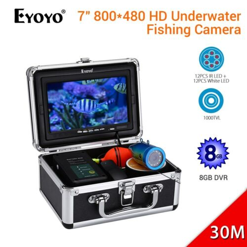 "Eyoyo EF07PRO 7/"" 30M Unterwasserjagd Kamera 8GB Night Vision Video FishFinder"