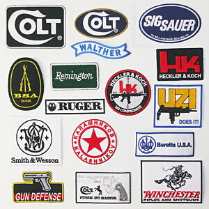 GUNS-FIREARMS-GUN-PATCH-COLLECTION-All-Under-2-UK-Stock-Fast-amp-Free-Post
