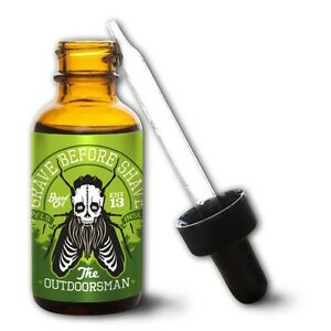 """GRAVE BEFORE SHAVE Beard Oil """"The Outdoorsman Blend"""" *REPELS UNWANTED INSECTS!!"""