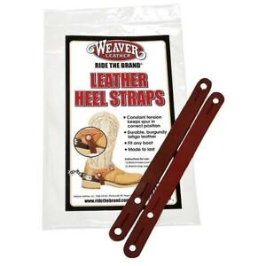 Weaver-Leather-Heel-Straps-Keep-Spurs-in-Correct-Position-Burgundy