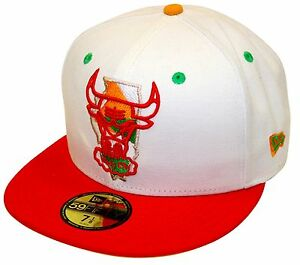 676bc27bf16 New Era 59Fifty Hare Chicago Bulls White Red Fitted Windy City Air ...