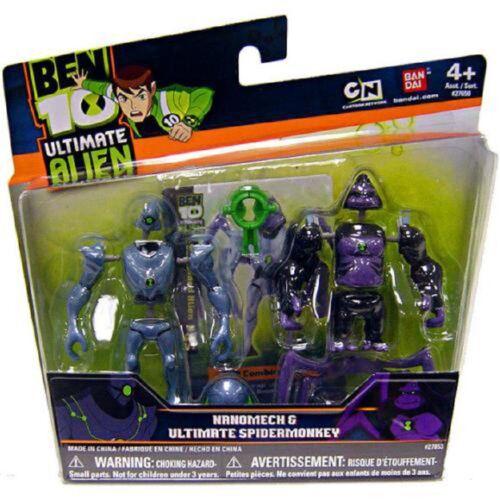 Ben 10 Ultimate Alien  Nanomech /& Ultimate Spidermonkey Mini Action Figures