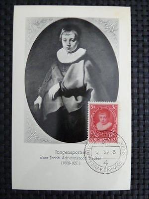 Europa Sparsam Niederlande Mk 1955 Malerei Painting Maximumkarte Maximum Card Mc Cm A9315 Niederlande & Kolonien
