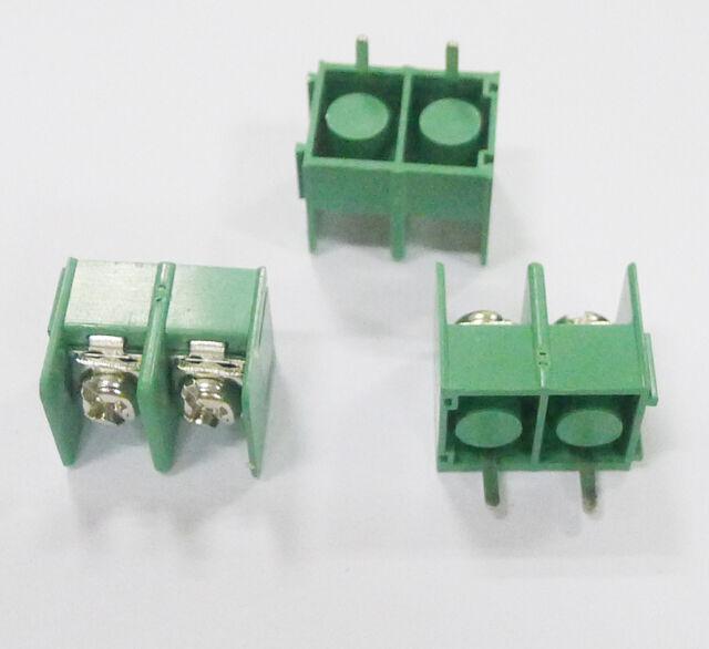 10 pcs KF7.62-2P 2pin 7.62mm pitch Screw Terminal Block  Good