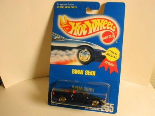early 90`s Hotwheels blue card #255 BMW 850i dark blue uh gold uhg   MIP BP 1994