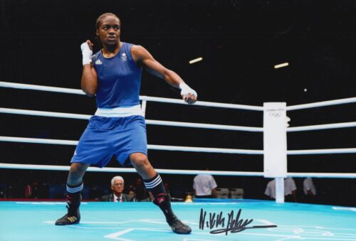 Nicola Adams Hand Signed Boxing 12x8 Photo m GB.