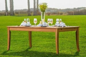 122 ATNAS RECTANGLE TABLE - A GRADE TEAK WOOD GARDEN OUTDOOR DINING FURNITURE