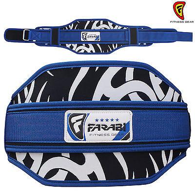 Neoprene Peso Sollevamento Cintura Da Palestra Fitness Ampio Sostegno Posteriore Colore Blu- Tieniti In Forma Per Tutto Il Tempo