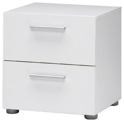 2 Drawer Nightstand Bedroom Furniture Table Night Stand End Bedside Bed  White