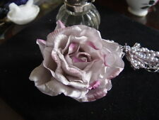 PURE SILK ORGANZA  MILLINERY ROSE -  Mauve & purple