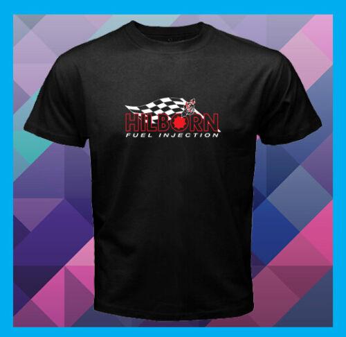 Hilborn Injector Logo Race Fuel Injection Men/'s Black T-Shirt S M L XL 2XL