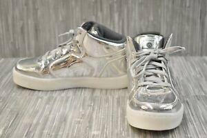 Skechers-S-Lights-Energy-Lights-Eliptic-90603L-Sneaker-Big-Boy-039-s-Size-4-Silver